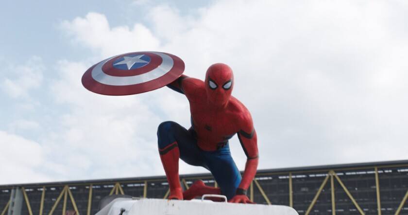 "Spider-Man in ""Captain America: Civil War."""