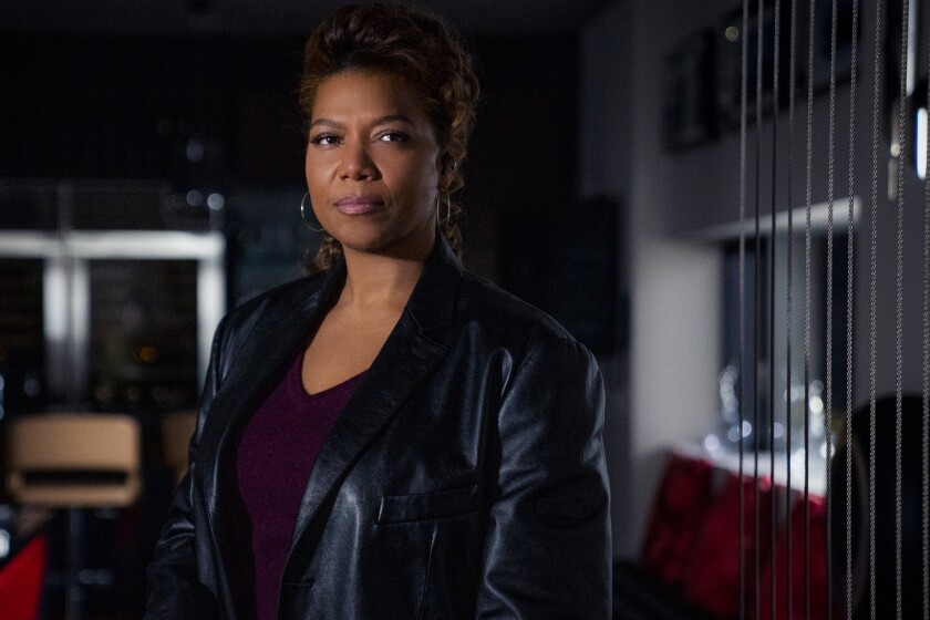 """This image released by CBS shows Queen Latifah as Robyn McCall in the pilot episode of the series """"The Equalizer."""" The series will debut immediately after CBS Sports' Feb. 7, 2021, telecast of Super Bowl LV. (Michael Greenberg/CBS via AP)"""