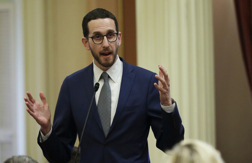 State Sen. Scott Wiener, D-San Francisco, can't get the Legislature to fix a loophole that makes it difficult to prosecute car burglaries.