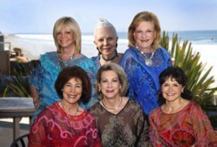 Co-chairs of the July 14 Patrons of the Prado: Top row:  Sandy Redman, Jeanne Jones, Ellen Zinn; Bottom row:  Pam Palisoul, Lynne Wheeler, and Arlene Esgate.