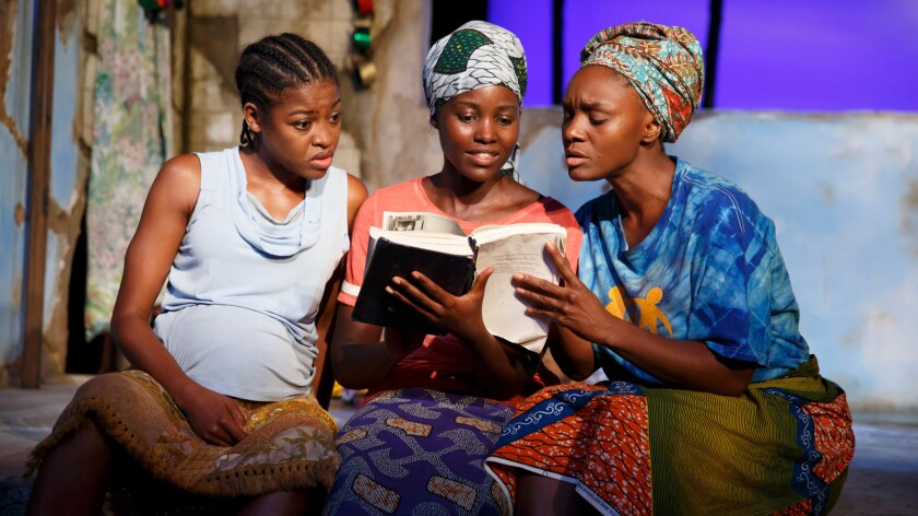 """Pascale Armand, left, Lupita Nyong'o and Saycon Sengbloh -- all Tony nominees for """"Eclipsed."""""""