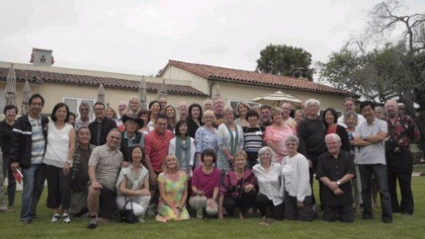 ASIJ reunion attendees at the Inn at Rancho Santa Fe.