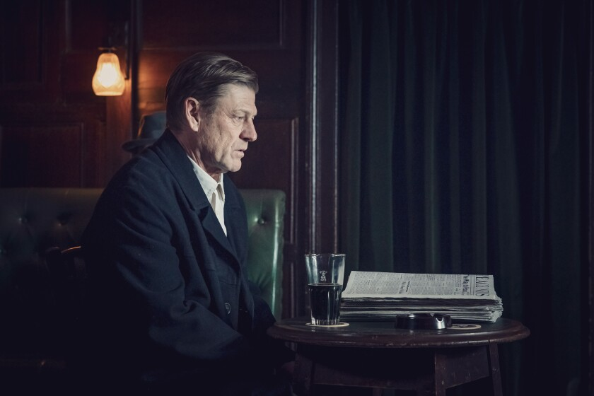 "Sean Bean is a father advocating for peace in the World War II drama ""World on Fire."""