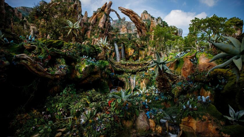 Pandora at Walt Disney World's Animal Kingdom in Florida treats the entire land as environmental sto