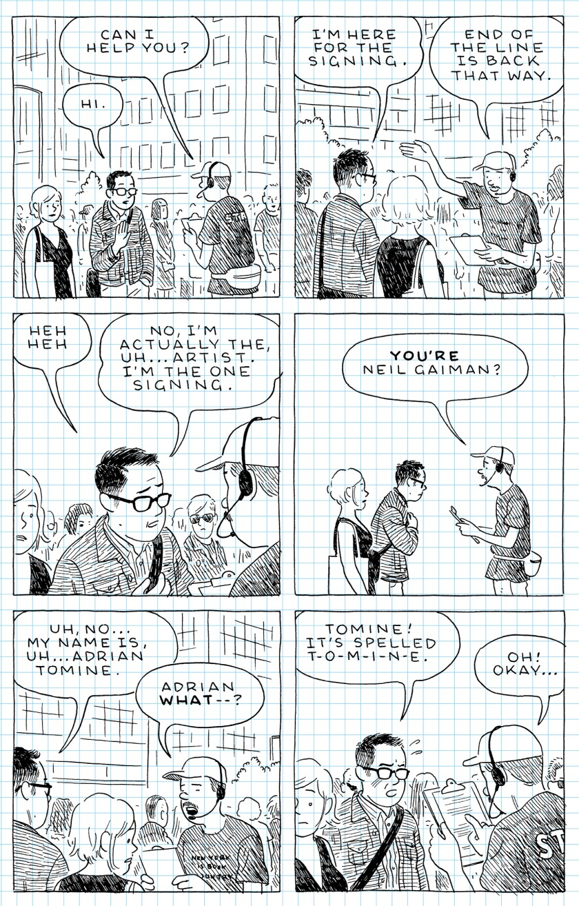 Image result for Adrian Tomine's The Loneliness of the Long-Distance Cartoonist
