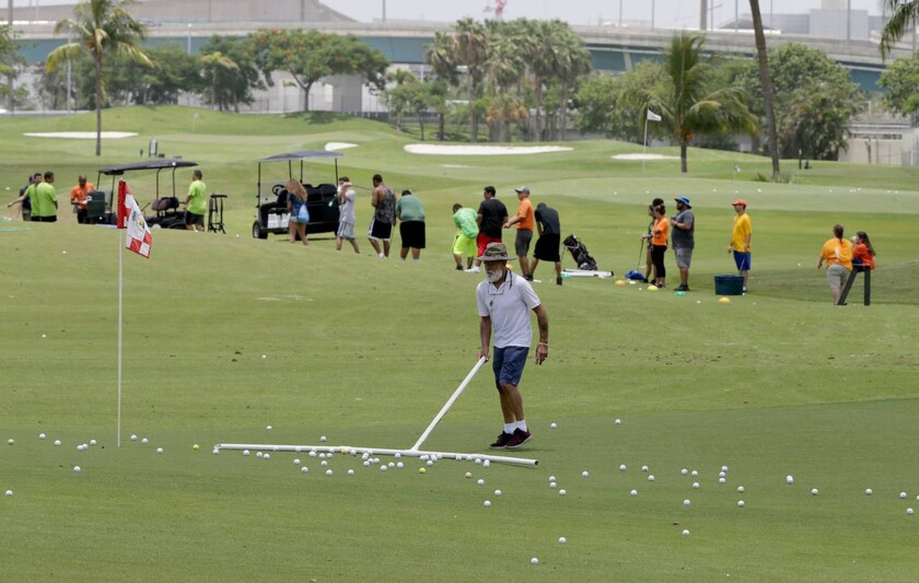 Tests have found unsafe levels of arsenic and other contaminants in the soil of Melreese golf course, where David Beckham and his partners want to build the MLS soccer stadium. (Pedro Portal/Miami Herald/TNS) ** OUTS - ELSENT, FPG, TCN - OUTS **