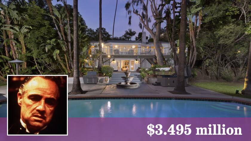A Hollywood Hills house that was once actor Marlon Brando's primary residence is on the market at $3.495 million.