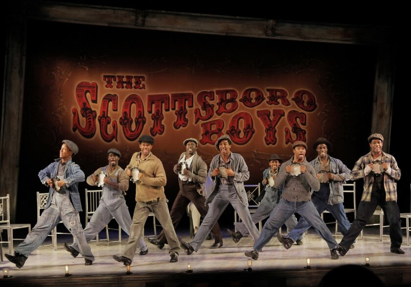 The West Coast premiere of The Old Globe Theatre musical 'The Scottsboro Boys' begins April 29. Courtesy