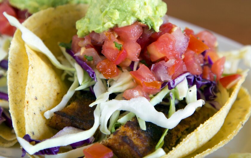 Native Foods Baja Blackened Tacos, including Chipotle Remoulade Sauce.
