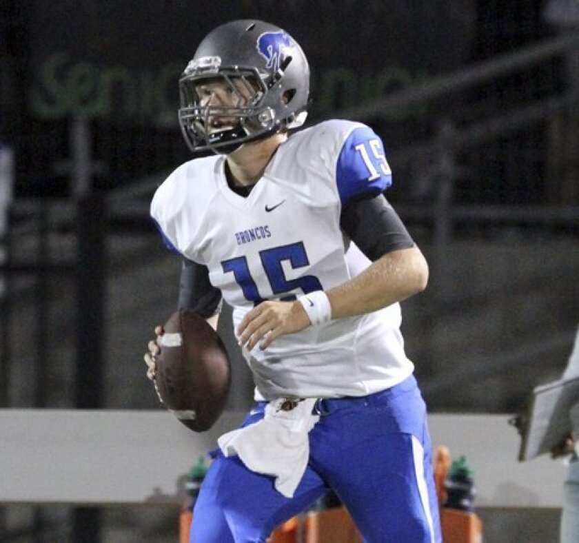 Tucker Reed and the Broncos are headed to the SDS Division II championship game. File photo