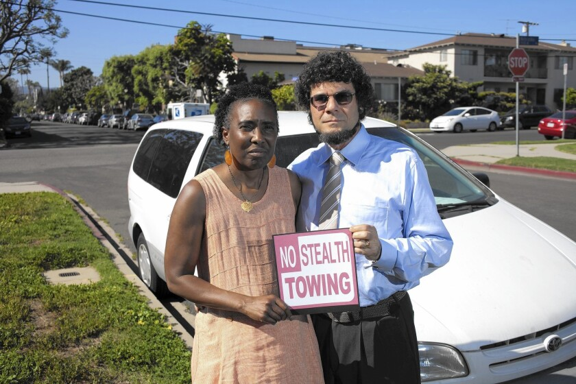 Jerolyn and J. David Sackman successfully fought to have a parking ticket overturned in court. The couple's van was towed after they went out of town in September, under a law that bans parking in the same spot for more than 72 hours at a time.