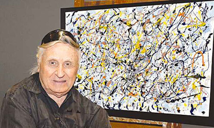 OWNER: Erich Gabor Neumeth, 89, says he obtained the paintings in the 1960s as payment of a debt.