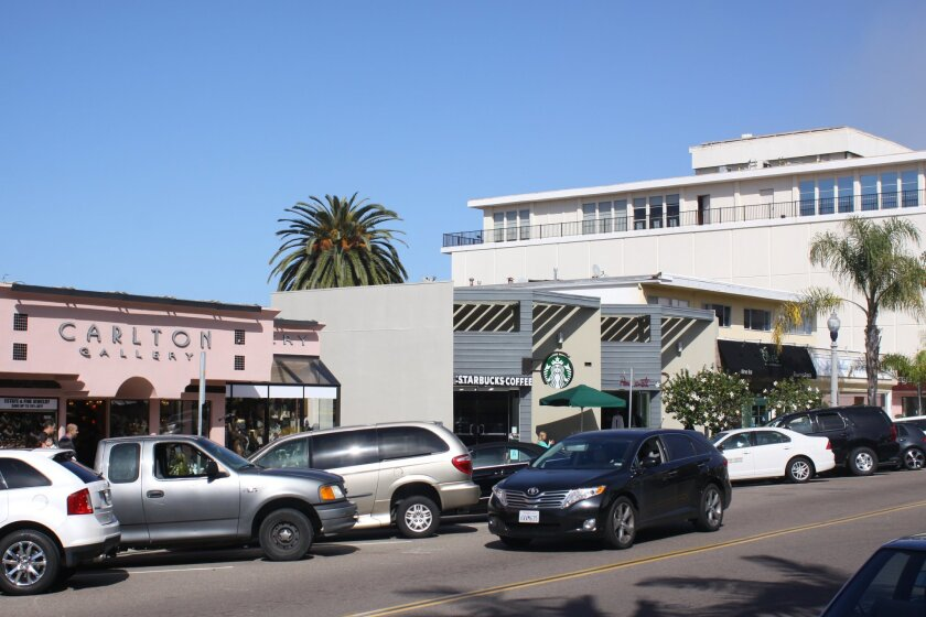 These retail spaces on Prospect Street, which include the space rented by La Jolla Village Merchants Association's Visitor Information Center, were sold by the family that owns La Jolla Cove Suites to Denver-based AIMCO, which also owns apartments at 400 Prospect St.