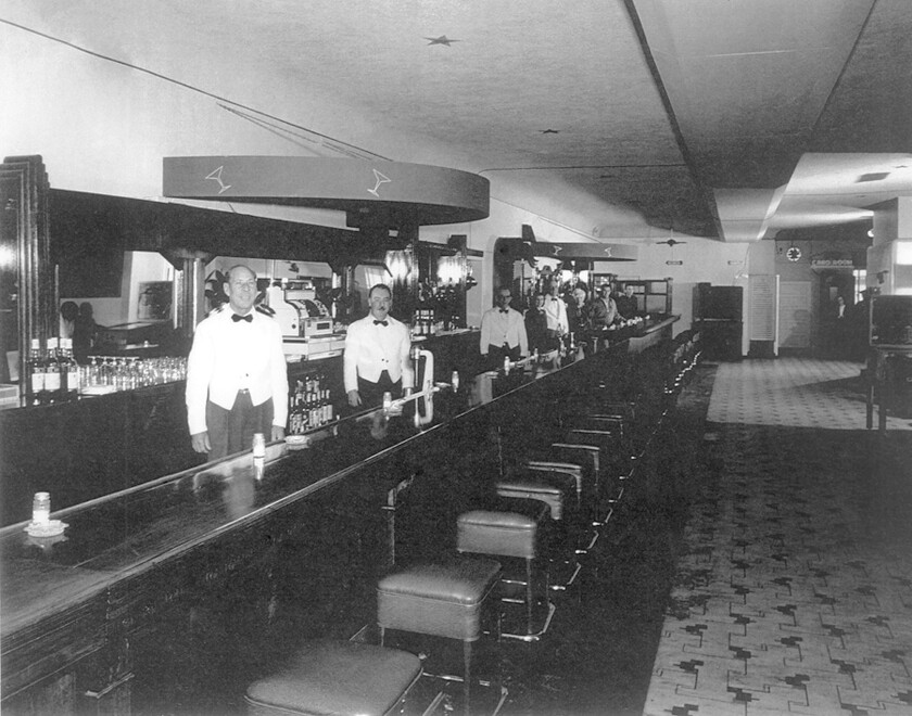 A photo of the Stag Bar which is thought to have been taken in the 1940s. The bar has been renovated and renamed the Stag Bar + Kitchen and plans reopen in December.