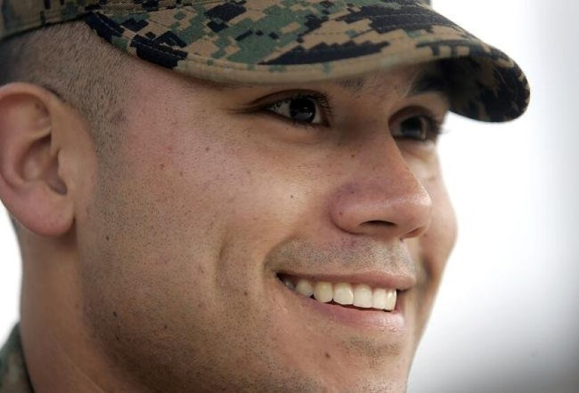 Marine Sgt. Jacob Tambunga has spent time in the Middle East, most recently in Afghanistan, during his deployments with the First Marines.