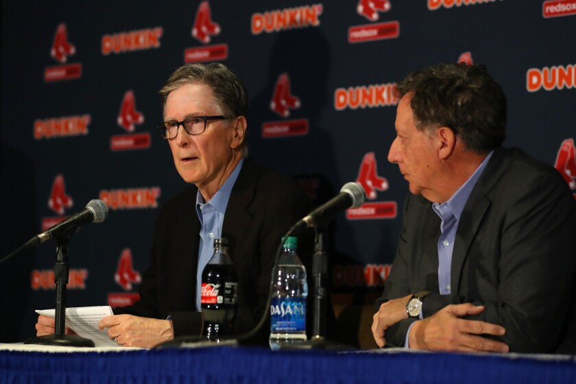 Boston Red Sox Owner John Henry addresses the firing of manager Alex Cora during a news conference on Jan. 15.