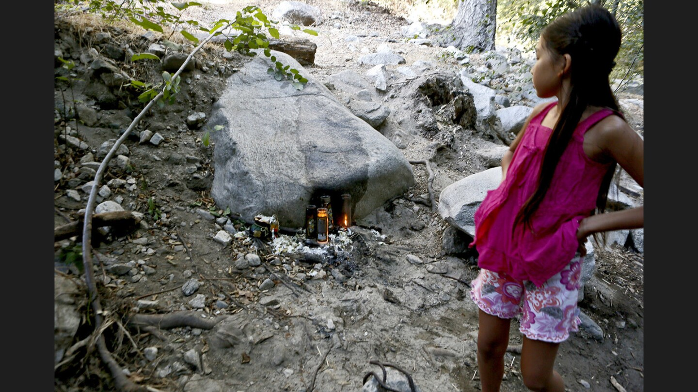 Photo Gallery: Trash, altars and offerings found on the Gabrielino Trail and the Arroyo Seco north of the Jet Propulsion Laboratory in the Angeles National Forest