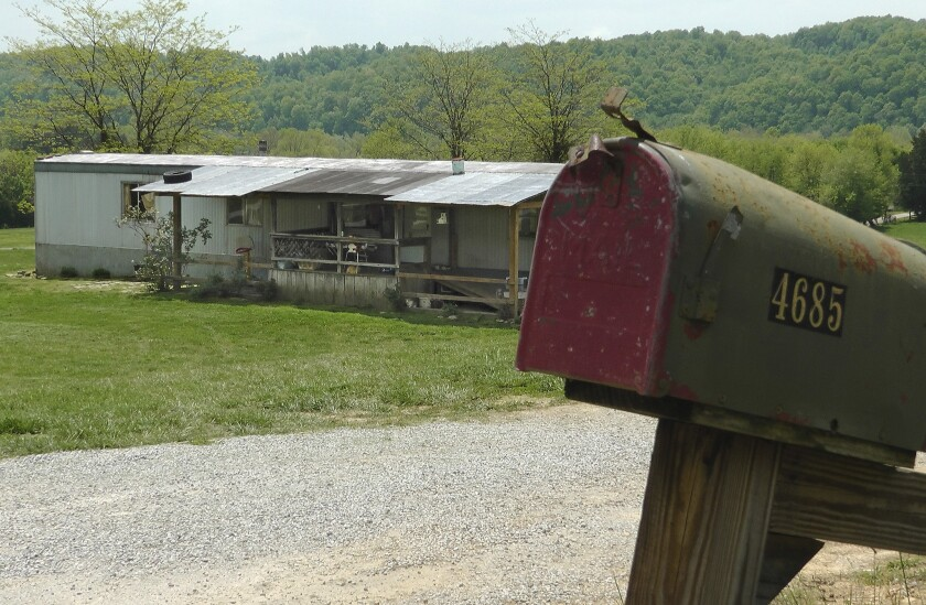 A home in Cumberland County, Ky., where a 2-year-old girl was shot by her 5-year-old brother with a gun designed for children. Investigators say the shooting was accidental.