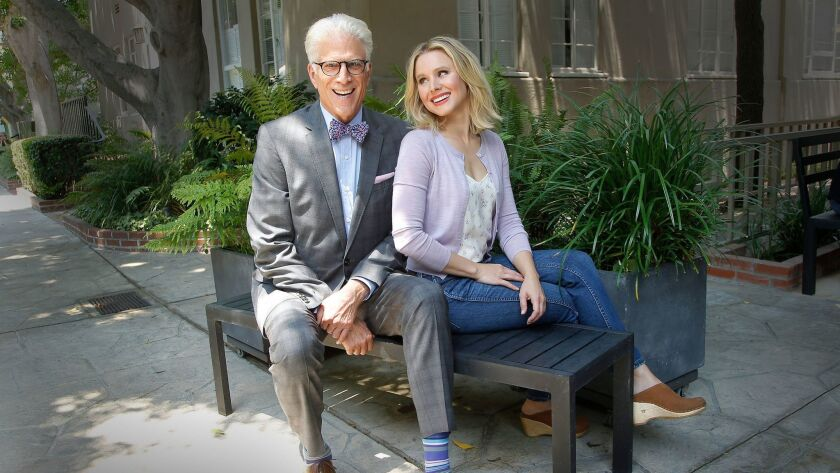 LOS ANGELES, CA., JUNE 21, 2017-- NBC's THE GOOD PLACE stars Kristen Bell as a recently deceased yo