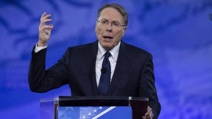 Is the National Rifle Assn. a threat to public safety? NRA leader Wayne LaPierre is still opposed to significant gun regulations.