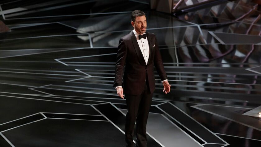 Jimmy Kimmel during the telecast of the 90th Academy Awards on Sunday, March 4, 2018 in the Dolby Theatre at Hollywood & Highland Center in Hollywood, CA.