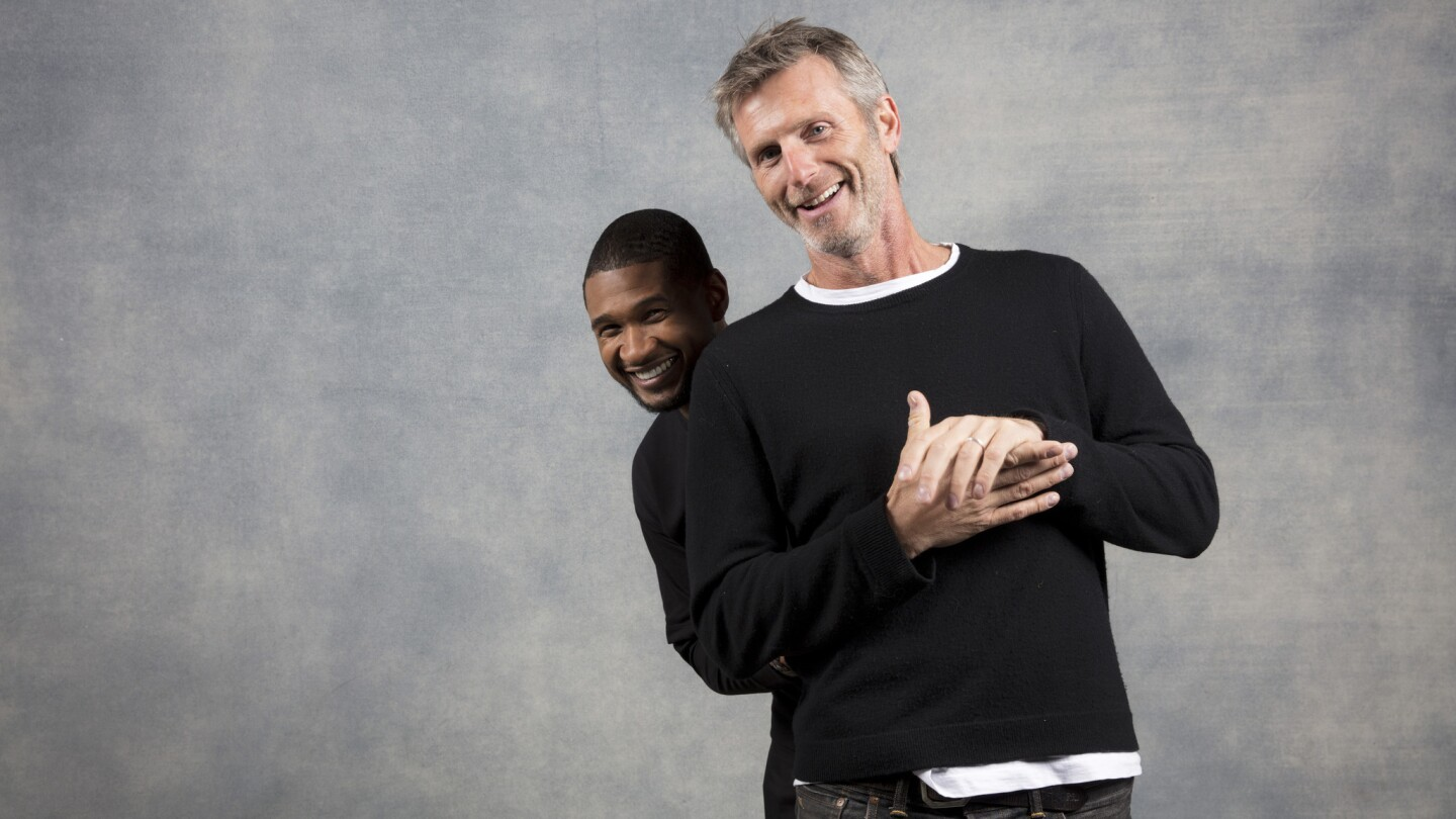 """Actor and musician Usher Raymond and director Andrew Heckler, from the film """"Burden."""""""