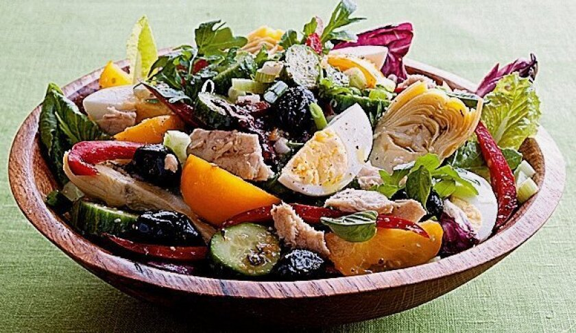 """Salade Niçoise Un Peu Classique from Jeanne Kelley's """"Salad for Dinner: Complete Meals for All Seasons."""""""