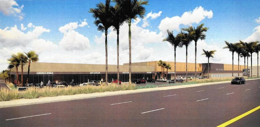 This rendering shows a proposal approved by the Costa Mesa City Council for a 714-unit self-storage facility to replace much of the Autoplex strip mall at 375 Bristol St.