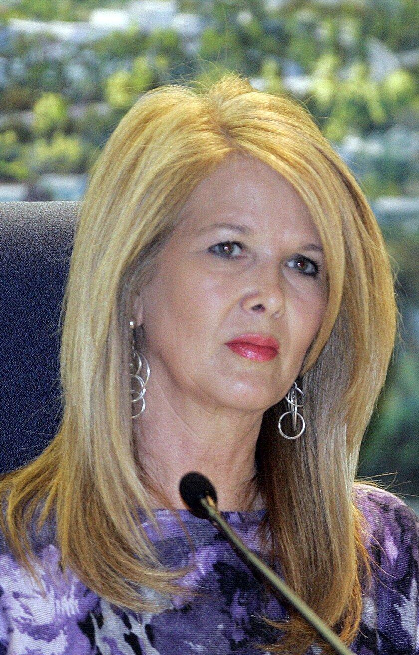 El Cajon City Council member Jillian Hanson-Cox seen at a 2011 council meeting.