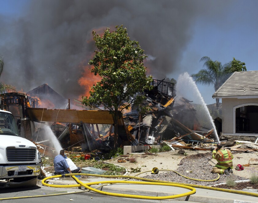 Video shows Murrieta gas explosion that killed a utility