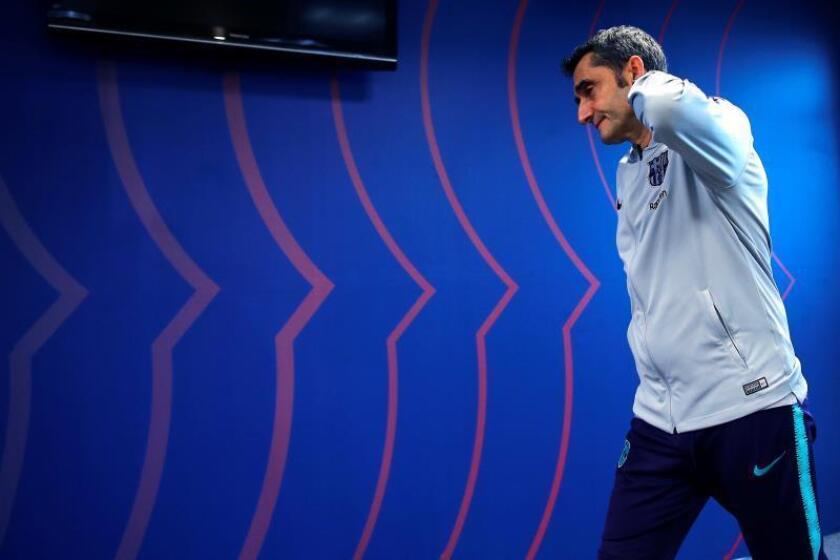 El entrenador del FC Barcelona, Ernesto Valverde. EFE/Archivo