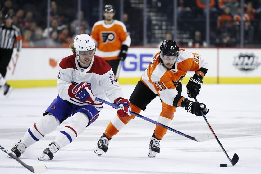 Canadiens Flyers Hockey