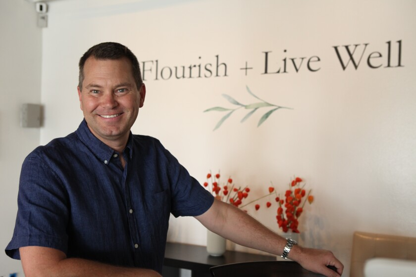 Regie Brown has opened Flourish + Live Well, selling CBD-infused products, in Oceanside.