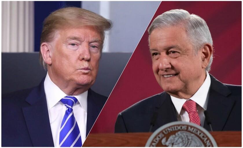 El presidente Donald Trump y su homólogo mexicano, Andrés Manuel López Obrador.