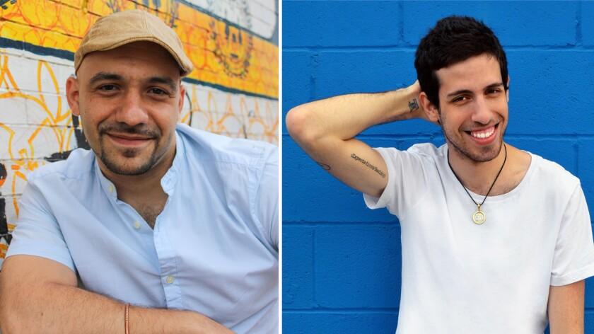 Authors Daniel Older, left, and Adam Silvera.