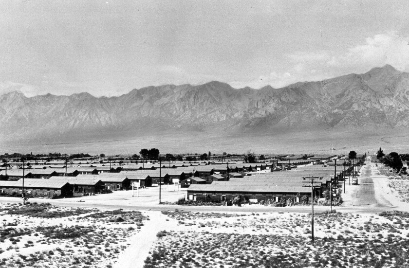 Manzanar campsite for interned Japanese Americans
