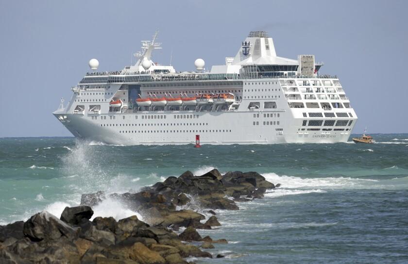 Royal Caribbean cruise ship Empress of the Seas in 2016.