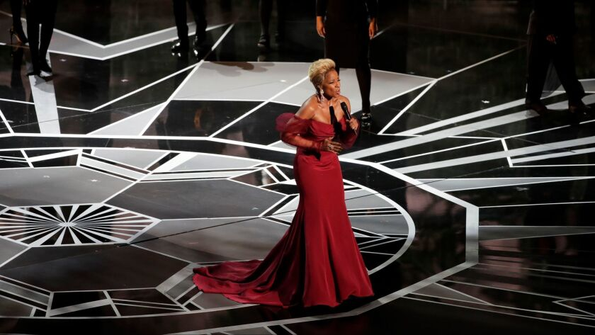 Mary J. Blige performs at Sunday's Academy Awards.