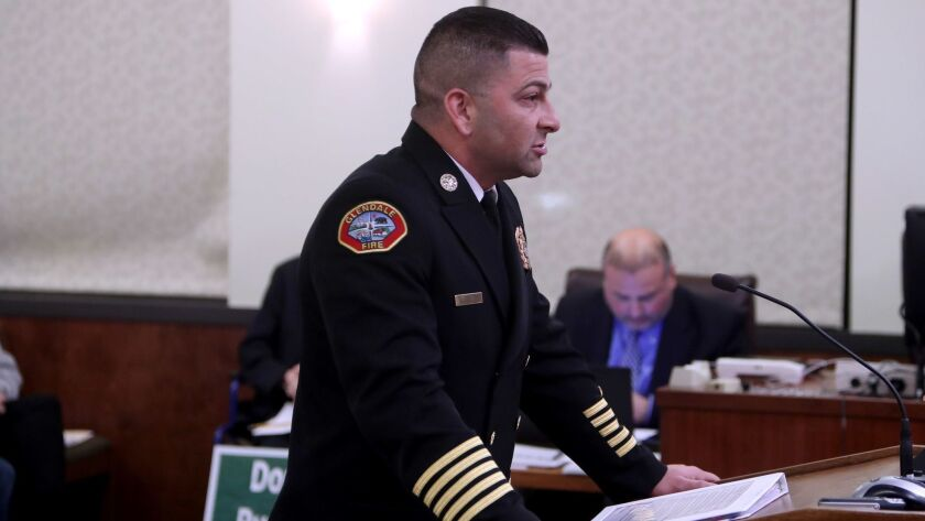 New Glendale Fire Chief Silvio Lanzas appointment was approved unanimously at Glendale City Hall dur