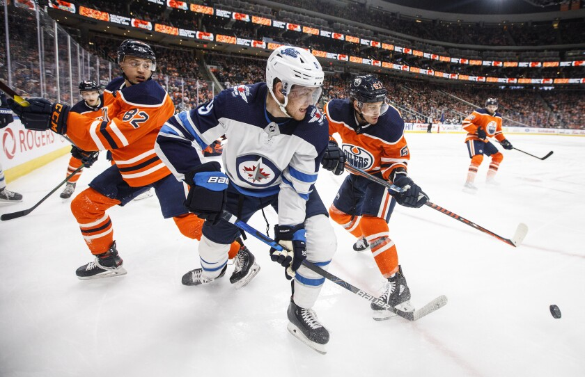 Jets Oilers Hockey
