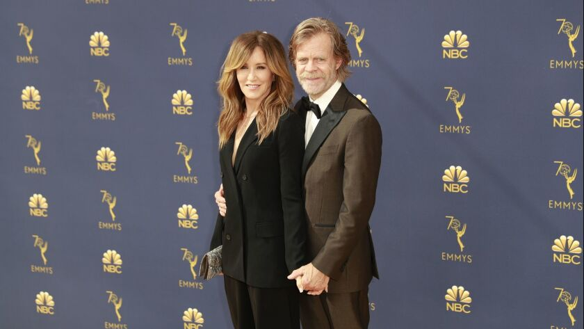 LOS ANGELES, CA., September 17, 2018: (L-R) Felicity Huffman and William H. Macy arriving at the 70t