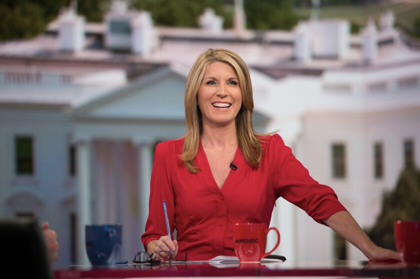 Nicolle Wallace on the set of her MSNBC program.