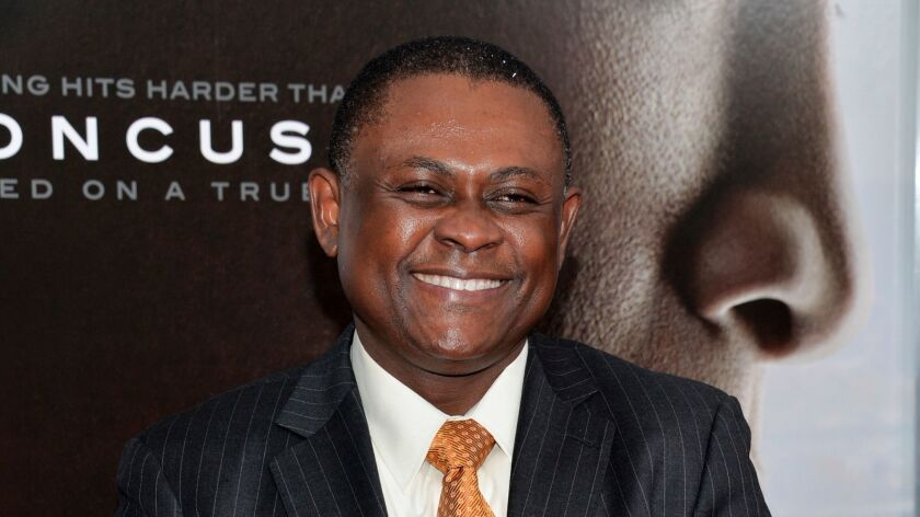 Dr. Bennet Omalu, who discovered the brain disease Chronic Traumatic Encephalopathy, which has afflicted many football players.