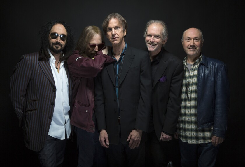 Mudcrutch, the band rock musician Tom Petty formed in Florida before coming to California in the mid-1970s and then forming the Heartbreakers, includes guitarist Mike Campbell, left, Petty, guitarist Tom Leadon, keyboardist Benmont Tench and drummer Randall Marsh.