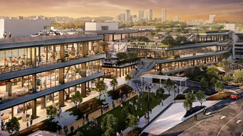 Architect's rendering of how the former Westside Pavilion shopping center in West Los Angeles will l