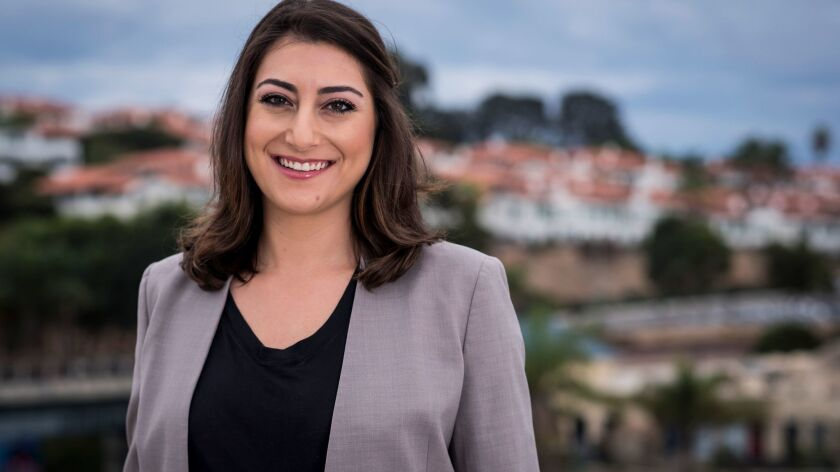 Sara Jacobs, a Democrat running for the 53rd Congressional District, reported personal wealth of between $14 million and $65 million in her latest federal financial disclosure. Some of those funds are invested in banks and drug companies that have been accused of abusing consumers.