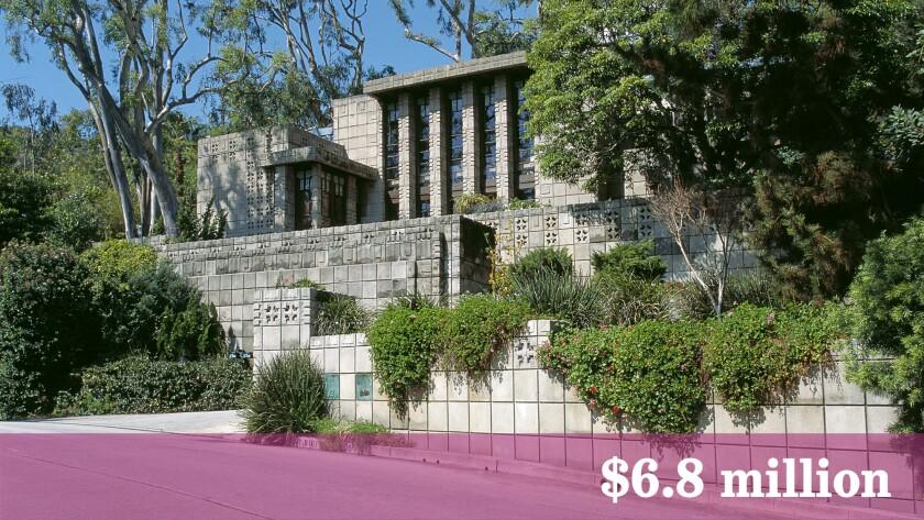 The Frank Lloyd Wright-designed John Storer Residence has sold in Hollywood Hills West for $6.8 million.
