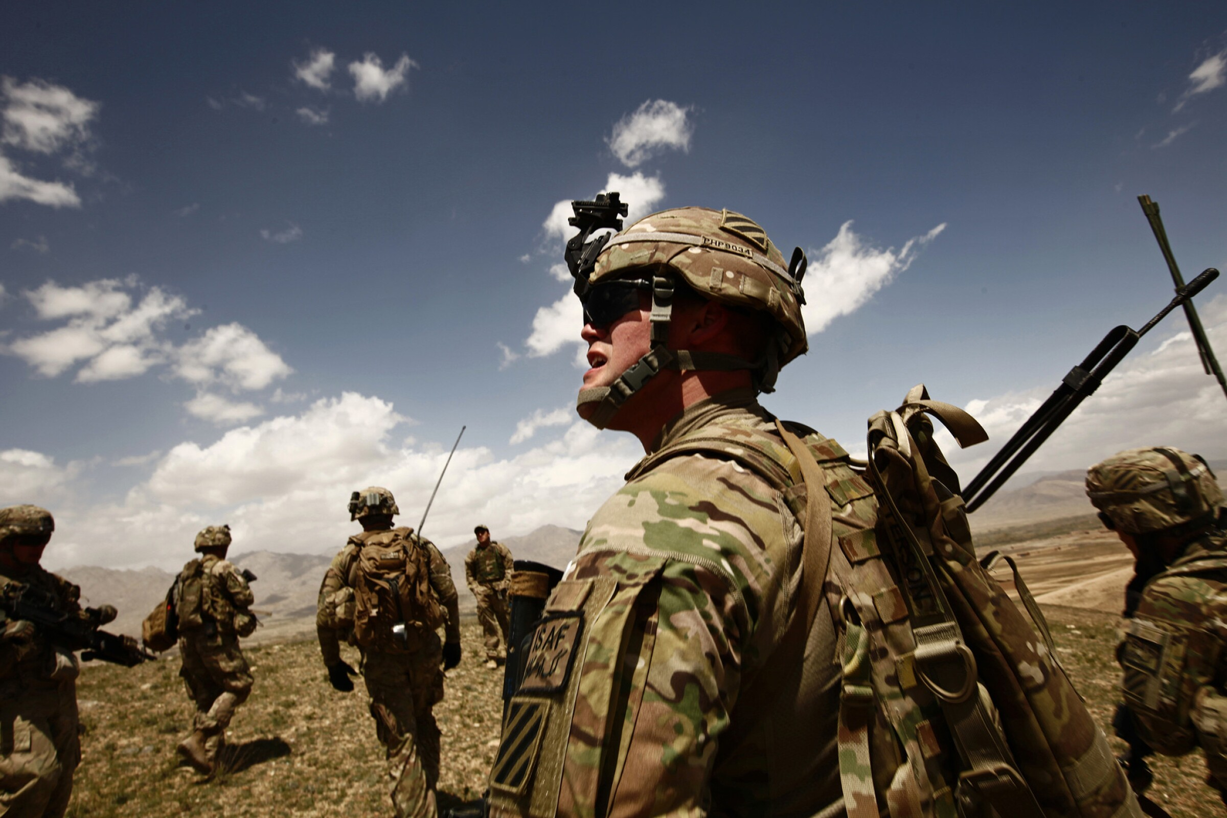 U.S. soldiers take part in an operation in support of Afghan soldiers in Wardak province, Afghanistan, in 2013.