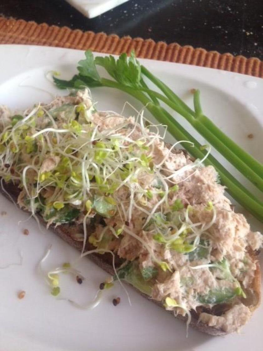 Salmon and Gherkin Salad
