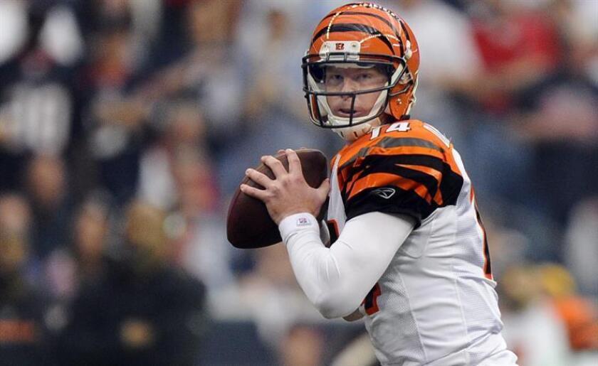 El jugador de los Cincinnati Bengals Andy Dalton. EFE/Archivo